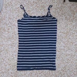 Blue and white striped cami